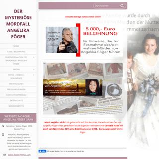Der Mordfall Angelika Foeger in Graen 1990