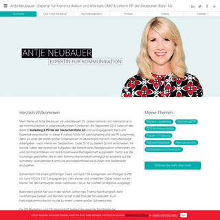 Antje Neubauer -Expertin für Kommunikationund ehemals CMO & Leiterin PR DB