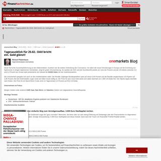 ArchiveBay.com - www.finanznachrichten.de/nachrichten-2020-02/48928753-tagesausblick-fuer-25-02-dax-bricht-ein-gold-glaenzt-203.htm - Tagesausblick für 25.02.- DAX bricht ein. Gold glänzt!