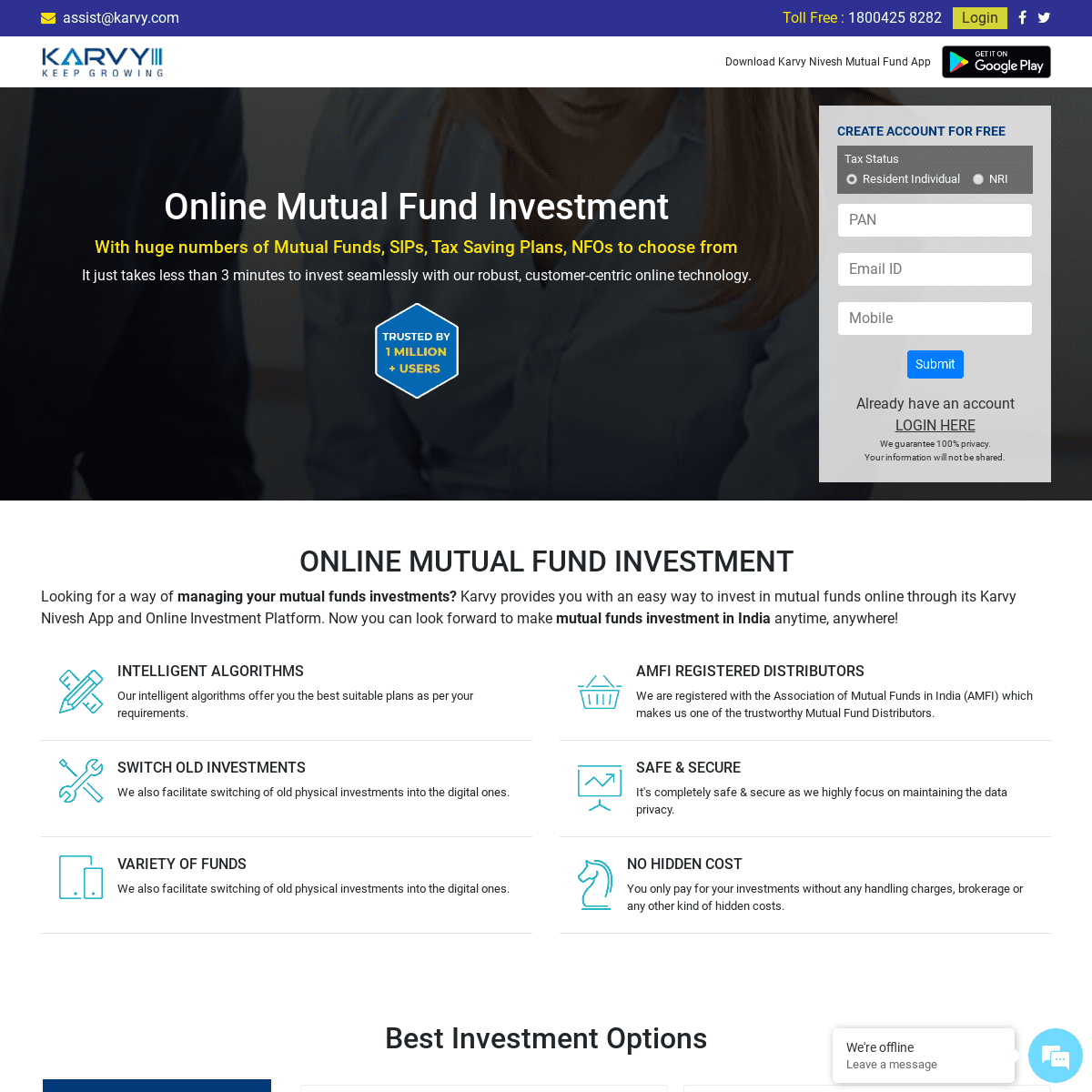 Online Mutual Funds Investment in India - Karvy Value
