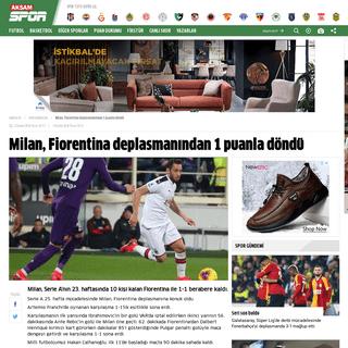 Milan, Fiorentina deplasmanından 1 puanla döndü