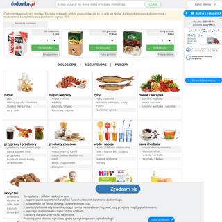 Ogólnopolski supermarket spożywczy online. Dostawa żywności – Dodomku