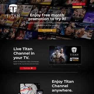 Titan Channel- the biggest combat sport platform online