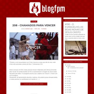 BlogFpM - Blog Fogo para Missões