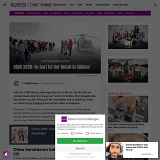 DSDS 2020- So hart ist der Recall in Sölden! - KUKKSI - Star News, Beauty und Trends