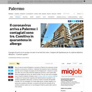 Il coronavirus arriva a Palermo- i contagiati sono tre. Comitiva in quarantena in albergo - la Repubblica