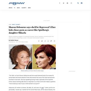 ArchiveBay.com - meaww.com/the-talk-sharon-oscourne-mikaela-spielberg-steven-spielberg-adult-entertainment-porn - Sharon Osbourne says she'd be 'depressed' if her kids chose porn as career like Spielberg's daughter Mikaela - MEAWW