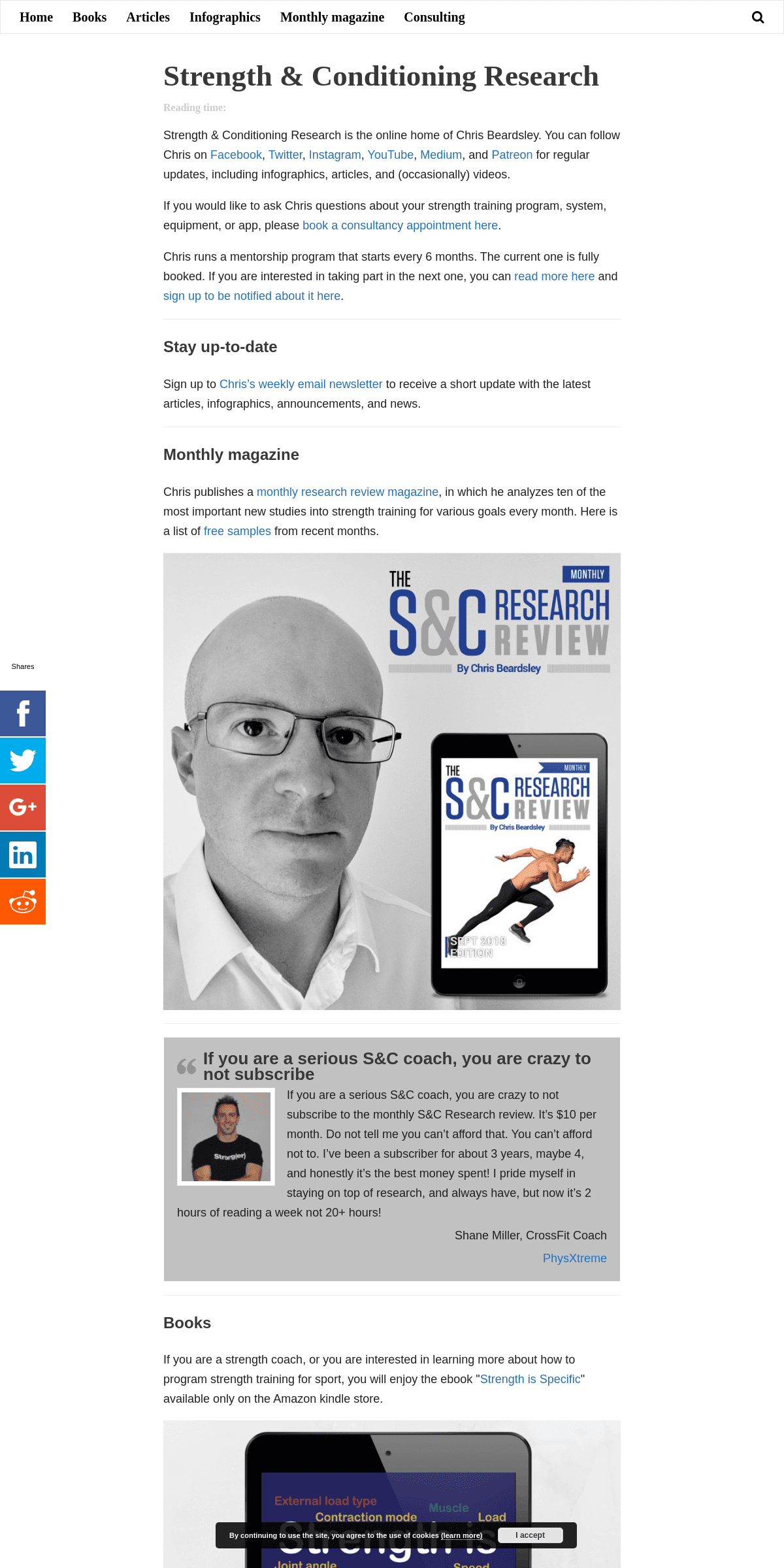 Strength & Conditioning Research - Encyclopedia of training for sports