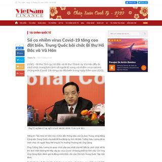 Số ca nhiễm virus Covid-19 tăng cao đột biến, Trung Quốc bãi chức Bí thư Hồ Bắc và Vũ Hán