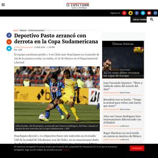 Huachipato vs Deportivo Pasto Copa Sudamericana 2020 - ELESPECTADOR.COM