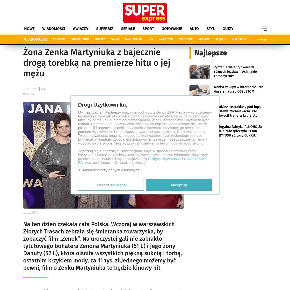 Żona Zenka Martyniuka z bajecznie drogą torebką na premierze hitu o jej mężu - Super Express