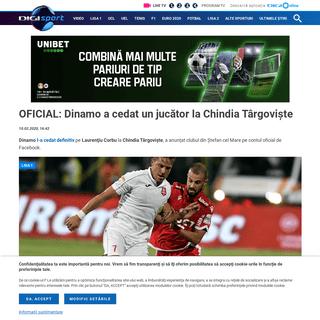 OFICIAL- Dinamo a cedat un jucător la Chindia Târgovişte