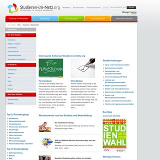 Studieren im Netz - Der Wegweiser für Studium & Weiterbildung