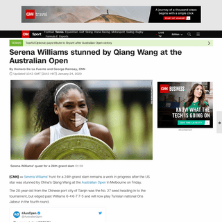 Serena Williams stunned by Qiang Wang at the Australian Open - CNN