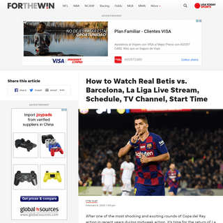 ArchiveBay.com - ftw.usatoday.com/2020/02/how-to-watch-real-betis-vs-barcelona-la-liga-live-stream-schedule-tv-channel-start-time - Real Betis vs. Barcelona Live Stream- TV Channel, How to Watch