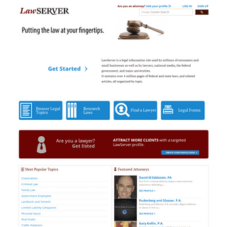 LawServer » Putting the law at your fingertips