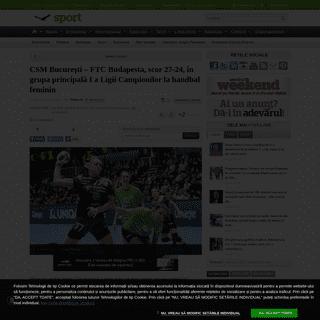 ArchiveBay.com - adevarul.ro/news/sport/csm-bucuresti-ftc-budapesta-scor-27-24-grupa-principala-i-ligii-campionilor-handbal-feminin-1_5e501e9f5163ec4271503551/index.html - CSM Bucureşti – FTC Budapesta, scor 27-24, în grupa principală I a Ligii Campionilor la handbal feminin - adevarul.ro