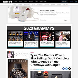 ArchiveBay.com - www.billboard.com/articles/news/awards/8549323/tyler-the-creator-bellhop-outfit-grammys-photos - Tyler The Creator's Bellhop Outfit At The 2020 Grammys- See Photos - Billboard