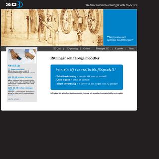 3iD - 3D-ritningar och 3D-printing, kostnadseffektivt och snabbt