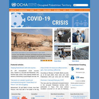 United Nations Office for the Coordination of Humanitarian Affairs - occupied Palestinian territory