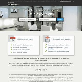 studiobookr.com - Buchungs- und Terminmaschine für Friseure, Nagelstudios und Kosmetikstudios