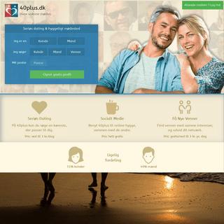 Dating på 40plus.dk- For alle over 40 år. Find en kæreste her!