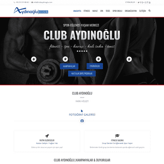 Club Aydınoğlu - Fitness Spa Havuz - Her Şey Bir Arada