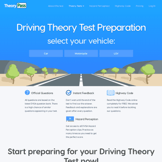 Theory Test Practice - Free Realistic UK Driving Theory Tests