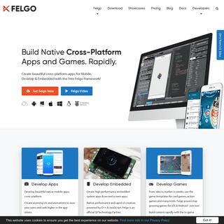Felgo- Build Native Cross-Platform Apps and Games. Rapidly.