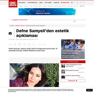Defne Samyeli'den estetik açıklaması - Son Dakika Magazin Haberleri