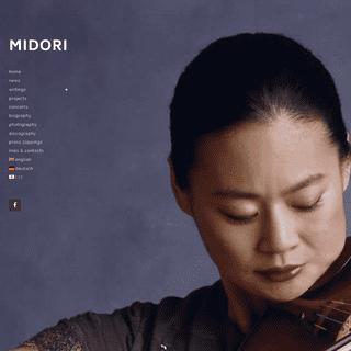 MIDORI - The official website of violinist Midori