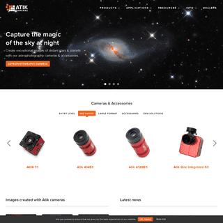 Cameras for astrophotography and science - Atik Cameras