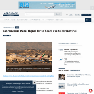 Bahrain bans Dubai flights for 48 hours due to covid-19 coronavirus