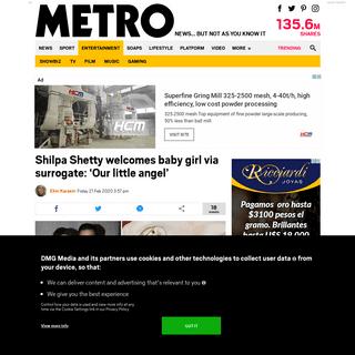 ArchiveBay.com - metro.co.uk/2020/02/21/shilpa-shetty-welcomes-baby-girl-via-surrogate-little-angel-12279976/ - Shilpa Shetty welcomes baby girl via surrogate - Metro News