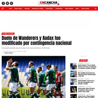 Duelo de Wanderers y Audax fue modificado por contingencia nacional