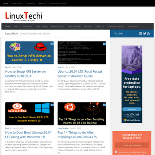 LinuxTechi- Linux How-Tos, commands and Tutorials