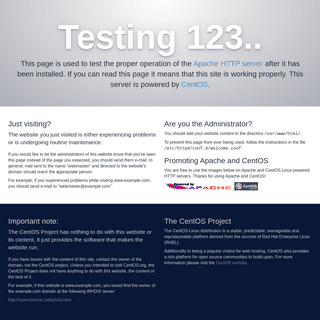 Apache HTTP Server Test Page powered by CentOS