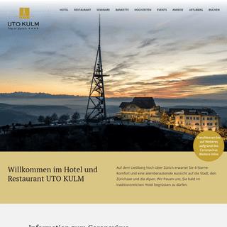 Hotel und Restaurant - Uto Kulm – Uetliberg Zürich
