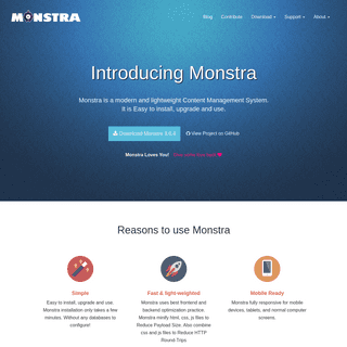 Monstra - The Fast, Extensible, and Easy Flat File Open Source Content Management System