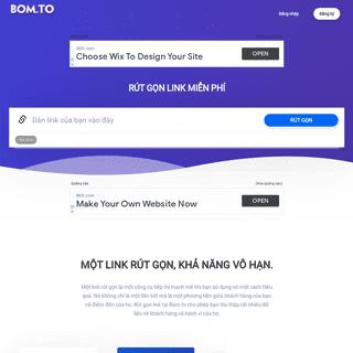 Rút gọn link miễn phí - Web rút gọn liên kết - Free URL Shortener - Bom.to