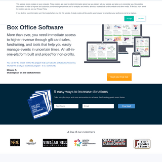 ThunderTix - Box Office Event Ticketing Software, Reserved Seats