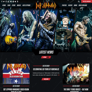 ArchiveBay.com - defleppard.com - DefLeppard.com - 2019 Tickets On Sale Now