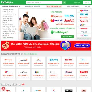 TichLuy.vn – Hoàn tiền mua hàng online đến 30- tại hơn 100+ đối tác như Tiki, Shopee, Lazada...