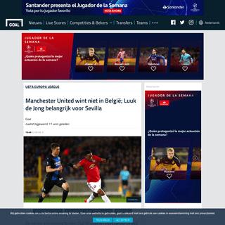 ArchiveBay.com - www.goal.com/nl/nieuws/manchester-united-wint-niet-in-belgie-luuk-de-jong/sesp7u1bdf8i1t9gu3cfcdtbt - Manchester United wint niet in België; Luuk de Jong belangrijk voor Sevilla - Goal.com