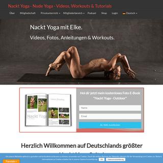 Nackt Yoga mit Elke - kostenlose Nackt Yoga Videos & Workouts