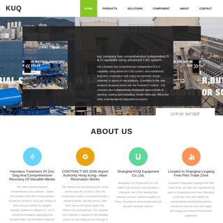 ArchiveBay.com - villa-anna-cilento.de - Shanghai KUQ Equipment Co.,Ltd, called KUQ as short, was founded in Shanghai, one of the leading bulk material conveyor solution