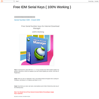 Free IDM Serial Keys { 100- Working }