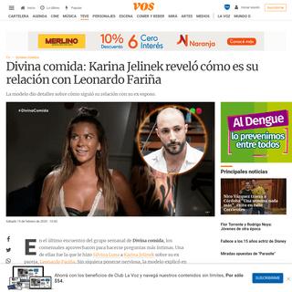 ArchiveBay.com - vos.lavoz.com.ar/tv/divina-comida-karina-jelinek-revelo-como-es-su-relacion-con-leonardo-farina - Divina comida- Karina Jelinek reveló cómo es su relación con Leonardo Fariña - VOS