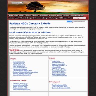 NGOs Directory - List- Pakistan