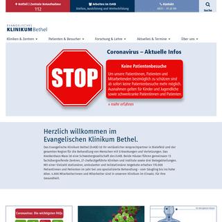 Startseite - Ev. Klinikum Bethel - Ihr Krankenhaus in Bielefeld